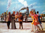 Reginald Marsh, The Battery Fine Art Reproduction Oil Painting