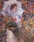 Robert Reid, The White Parasol Fine Art Reproduction Oil Painting