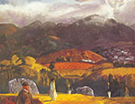 George Bellows, Golf Course-California Fine Art Reproduction Oil Painting
