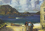George Bellows, Harbour at Monhegan Fine Art Reproduction Oil Painting