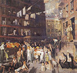 George Bellows, Cliff Dwellers Fine Art Reproduction Oil Painting