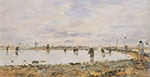 Eugene Boudin, Shrimp Fishers at Trouville Fine Art Reproduction Oil Painting