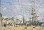 Eugene Boudin, The Quay at Trouville Fine Art Reproduction Oil Painting