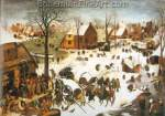 Pieter Bruegel the Elder, The Census at Bethlehem Fine Art Reproduction Oil Painting