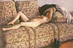 Gustave Caillebotte, Nude on a Couch Fine Art Reproduction Oil Painting