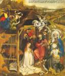 Robert Campin, The Nativity Fine Art Reproduction Oil Painting