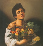 Michelangelo Caravaggio, Boy with a Basket of Fruit Fine Art Reproduction Oil Painting