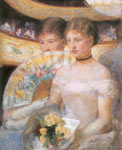 Mary Cassatt, Two Young Ladies in a Loge Fine Art Reproduction Oil Painting
