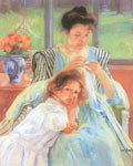 Mary Cassatt, Young Mother Fine Art Reproduction Oil Painting