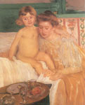 Mary Cassatt, Baby Getting Up from His Nap Fine Art Reproduction Oil Painting