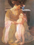 Mary Cassatt, Mother and Child Fine Art Reproduction Oil Painting