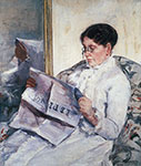 Mary Cassatt, Woman Reading Le Figaro Fine Art Reproduction Oil Painting