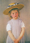 Mary Cassatt, Child in a Straw Hat Fine Art Reproduction Oil Painting