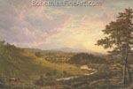 Frederic Edwin Church, View near Stockbridge, Mass. Fine Art Reproduction Oil Painting