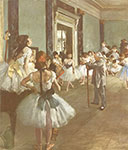 Edgar Degas, The Dancing Class Fine Art Reproduction Oil Painting