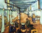 Vincent Van Gogh, Dormitory in the Hospital Fine Art Reproduction Oil Painting
