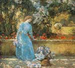 Childe Hassam, Lady in the Park Fine Art Reproduction Oil Painting