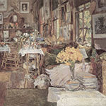Childe Hassam, The Room of Flowers Fine Art Reproduction Oil Painting