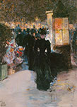 Childe Hassam, Paris Nocturne Fine Art Reproduction Oil Painting