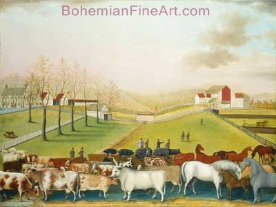 Edward Hicks, The Cornell Farm Fine Art Reproduction Oil Painting