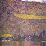 Gustave Klimt, Unterach on the Attersee Fine Art Reproduction Oil Painting