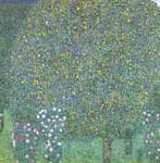 Gustave Klimt, Roses Under Trees Fine Art Reproduction Oil Painting