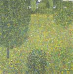 Gustave Klimt, Garden Landscape (Blooming Meadow) Fine Art Reproduction Oil Painting