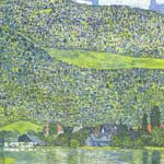 Gustave Klimt, Litzberg on the Attersee Fine Art Reproduction Oil Painting