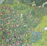 Gustave Klimt, Italian Garden Landscape Fine Art Reproduction Oil Painting