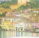 Gustave Klimt, Malcesine on Lake Garda Fine Art Reproduction Oil Painting