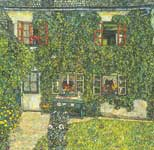 Gustave Klimt, Foresters House in Weissenbach on the Attersee Fine Art Reproduction Oil Painting