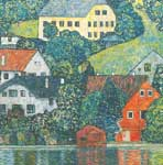 Gustave Klimt, Houses at Unterach on the Attersee Fine Art Reproduction Oil Painting