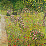 Gustave Klimt, Orchard with Roses Fine Art Reproduction Oil Painting