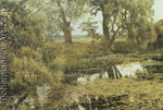 Isaac Levitan, Overgrown Pond Fine Art Reproduction Oil Painting