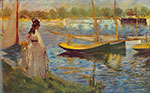 Edouard Manet, River at Argenteuil Fine Art Reproduction Oil Painting