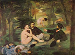 Edouard Manet, Luncheon on the Grass Fine Art Reproduction Oil Painting