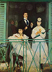 Edouard Manet, The Balcony Fine Art Reproduction Oil Painting