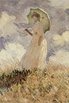 Claude Monet, Woman with a Parasol Fine Art Reproduction Oil Painting