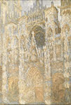 Claude Monet, The Cathedral in Rouen, Harmony in Blue Fine Art Reproduction Oil Painting