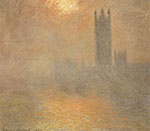 Claude Monet, Houses of Parliament, Effect of Sunlight in Fog Fine Art Reproduction Oil Painting
