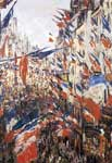 Claude Monet, Rue Montorgeuil Decked with Flags Fine Art Reproduction Oil Painting