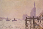 Claude Monet, Westminster Bridge Fine Art Reproduction Oil Painting