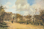 Camille Pissarro, View from Louveciennes Fine Art Reproduction Oil Painting