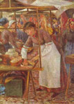 Camille Pissarro, The Pork Butcher Fine Art Reproduction Oil Painting