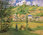 Camille Pissarro, Chaponval Landscape Fine Art Reproduction Oil Painting
