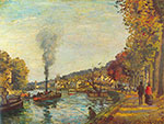 Camille Pissarro, The Seine at Marly Fine Art Reproduction Oil Painting
