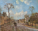 Camille Pissarro, The Road at Louveciennes Fine Art Reproduction Oil Painting
