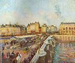 Camille Pissarro, Le Pont Neuf Fine Art Reproduction Oil Painting