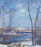 Edward Redfield, Breaking of Winter Fine Art Reproduction Oil Painting