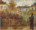 Pierre August Renoir, Monet Working in his Garden Fine Art Reproduction Oil Painting